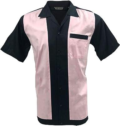 Retro Fashions Camisa Rockabilly de manga corta para hombre ...