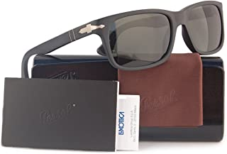 PO3048S Polarized Sunglasses Matte Black w/Crystal Grey...