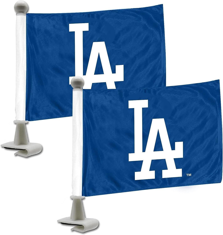 FANMATS Choice MLB Los Angeles Seasonal Wrap Introduction Dodgers Style Set 2Piece Ambassador Flag