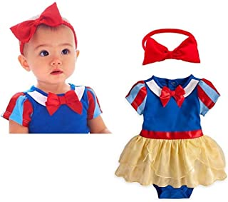 Toddler Baby Girls Princess Snow White Costume Halloween Fairy Tale Fancy Dress Up Birthday Romper Tutu Gown Headband