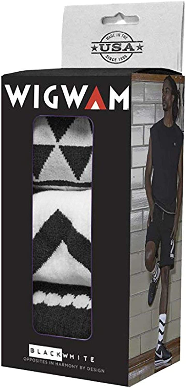 Wigwam Black and White Collection Holiday Gift Box Walking Socks Large Black White