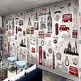 Murales Fotomurales Cabina De Teléfono Roja En Londres, Reino Unido Papel Pintado No Tejido 3D Papel De Pared Dormitorios Salón Hotel Fondo De Tv Elegante Moderno Fine Decor Murales 350 X 250 Cm