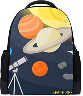COOSUN Space Objects And Telescope School Backpack Casual Daypack Travel Laptop Backpack