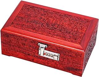 Jewelry Box Storage Solid Wood Jewelry Box Retro Carved Jewelry Storage Box Necklace Earrings Ring Finishing Jewelry Box G...