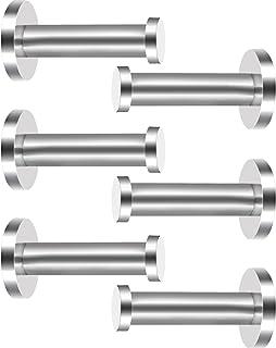 eBoot 6 Pieces Stainless Steel Wall-Mount Robe Hook Coat Hook Towel Wall Hook, Brushed Nickel (3 Inch)