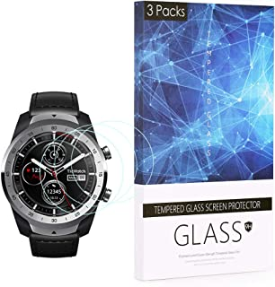 BECROWM for Ticwatch Pro Tempered Glass Screen Protector Smartwatch Screen Protector 9H Hardness Full Coverage Screen Prot...