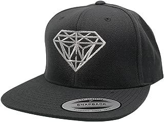 Flexfit Diamond Embroidered Flat Bill Snapback Cap