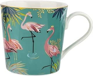 Sara Miller London for Portmeirion Tahiti Collection 12 oz Mug - Flamingo