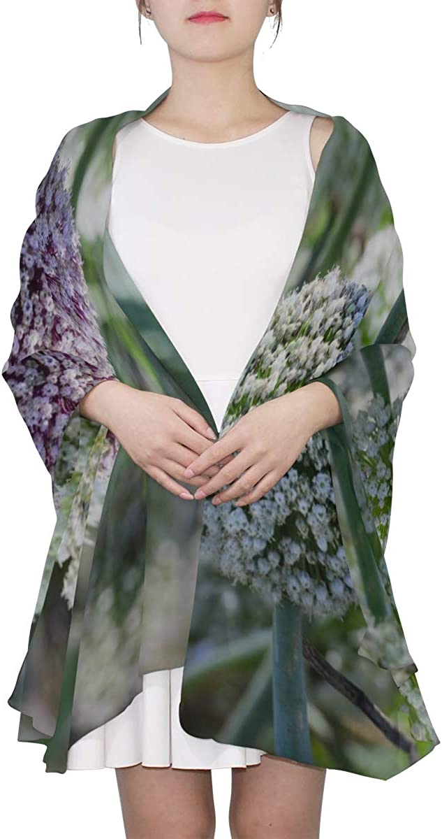 Giant Onion Flower Blooming Unique Fashion Scarf For Women Lightweight Fashion Fall Winter Print Scarves Shawl Wraps Gifts For Early Spring