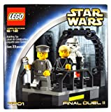 Lego year 2002Star Wars Series Movie scene set # 7201Final Duel II with Walkway on the Second Death Star Plus Luke Skywalker AS Jedi Knight, Imperial Officer and Stormtrooper Minifigures (Total Pieces: 23)
