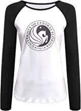 Creamfly Womens University Of Central Florida Poster Long Sleeve Raglan Baseball Tshirt