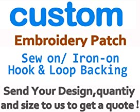 Custom Design Embroidery Patches Any Size Any Logo Quote DIY Big/Small Size Low Price Custom Patch