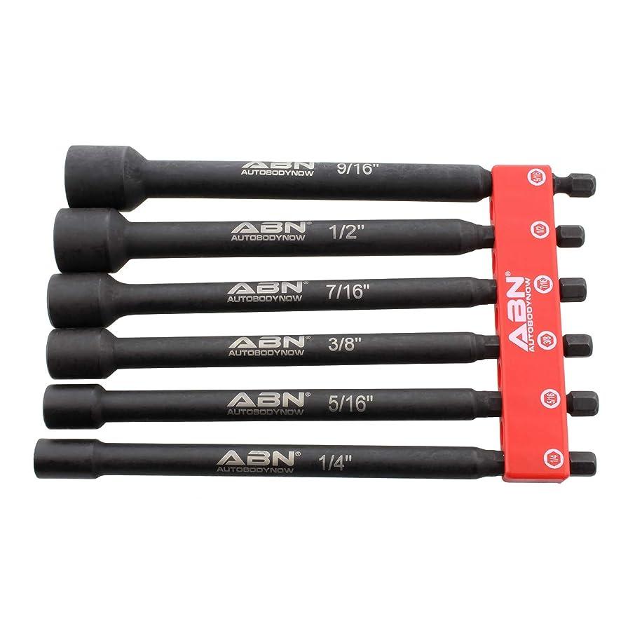 """ABN Magnetic Driver Impact Driver Bit Set Socket Set 6pc 1/4 to 9/16"""" Nut Driver Set Magnet Driver Impact Driver Set"""