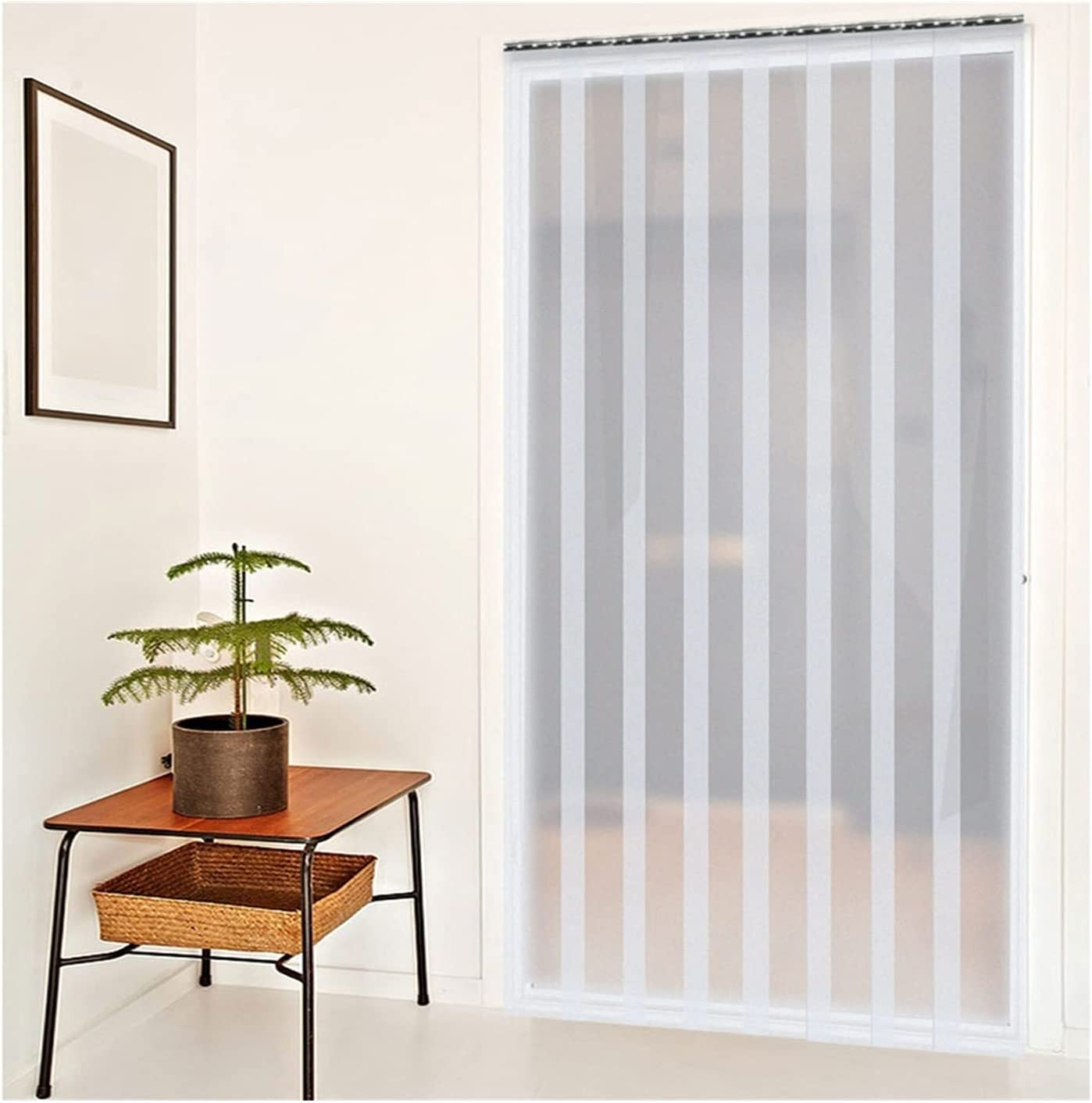 GGYMEI Deluxe PVC Strip Curtain Vertical Door Blinds Freezer Free shipping on posting reviews Do Strips