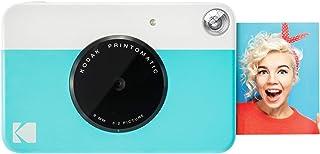 Kodak Printomatic - Cámara de impresión instantánea imprime en Papel Zink 5 x 7.6 cm con respaldo adhesivo azul
