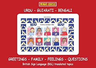 BSL Greetings, Family, Feeling & Questions Signs with URDU, GUJARATI & BENGALI Translations (Let's Sign BSL)