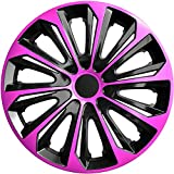 4Enjoliveurs 14Rose Jeu de 4enjoliveurs Jeu de 4enjoliveurs 14pouces Noir Rose Strong 14, produit neuf et OVP Top offre.