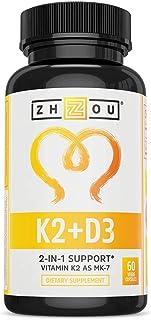 Vitamin K2 (MK7) with D3 Supplement - Vitamin D & K Complex - Bone and Heart Health Formula - 5000 IU Vitamin D3 & 90 mcg ...