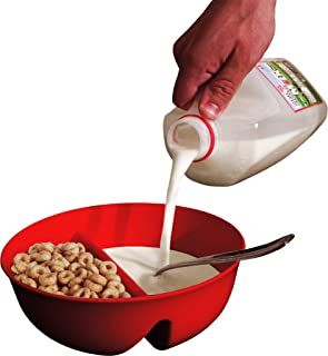 Just Crunch 15 oz. Anti Soggy Cereal Bowl Color: Red
