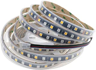 LEDENET Waterproof IP67 Flexible RGBW RGBWW LED Strip Lighting 24V 5M Black PCB Outdoor Lighting (RGB+Warm White)