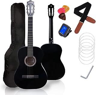 Classical Guitar for Beginner, MIRIO 39 Inch Full Size Classic Guitarra Beginner Nylon Strings Wooden Guitar with Online L...