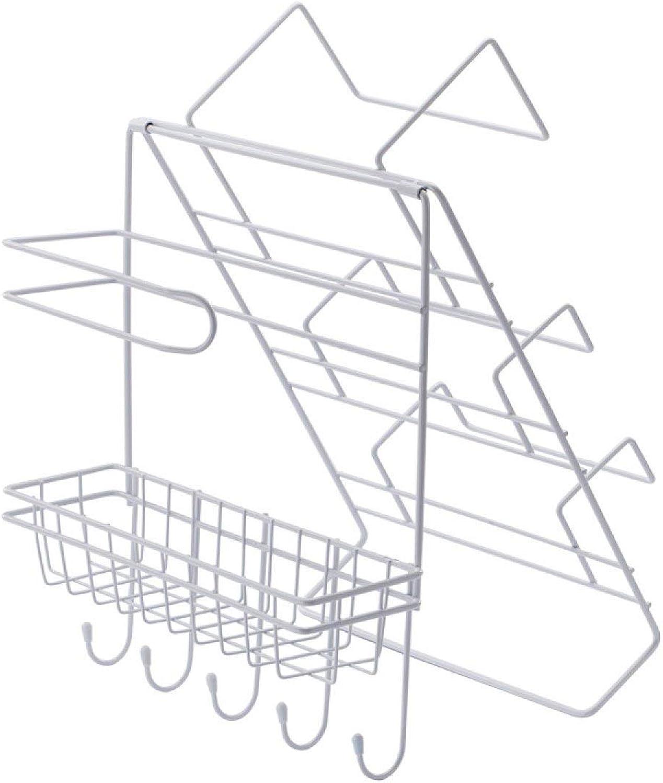Der WaMount Iron Kitchen Seasoning Storage Rack Refrigerator Rack Sheves Storage Shelves