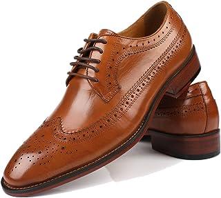 [DADIJIER] ビジネスシューズ 本革 メンズ 紳士靴 外羽根 ポインテッドシューズ ストレートチップ ウイングチップ 革靴 大きいサイズ