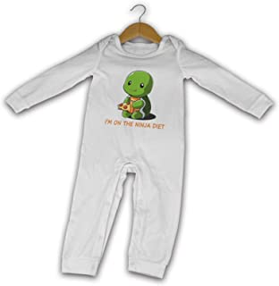 "David A Beltran Turtles I""m On The-Ninja-Diet Sommer Langarm Mädchen Jungen Baby Strampler Baumwolle Neugeborene Säugling Body Baby Pyjama"