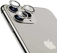 TAMOWA Protector Cámara para iPhone 11 Pro/iPhone Pro MAX, Protector de Lente de cámara de Anillo Protector Metálico de Vidrio Templado para iPhone 11 Pro/iPhone 11 Pro MAX, Plata