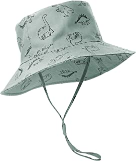 ORVINNER Baby Sun Hat Cotton, Toddler UPF 50+ Sun Protection Beach Bucket Hat Kids Boys Girls Wide Brim Summer Play Hat