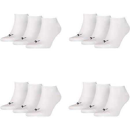 Puma, unisex trainer/sports socks, pack of 12, Men, White, 39-42