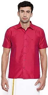 Chennis Red Short Sleeve Regular Fit Shirt