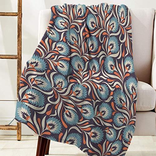 Manta Para Cozy Warm Reversible Throw Blanket Tradicional Flor De Paisley Blanket 125 X 100CM