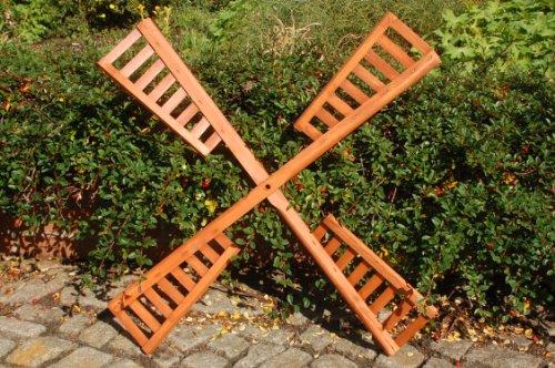 Flügel aus Holz für Windmühle, imprägniert, 80 cm Spannweite