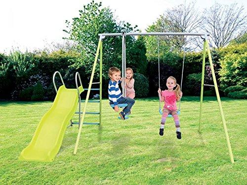 Airwave Alto Garden Swing Glider and Slide Kids Outdoor Play Set