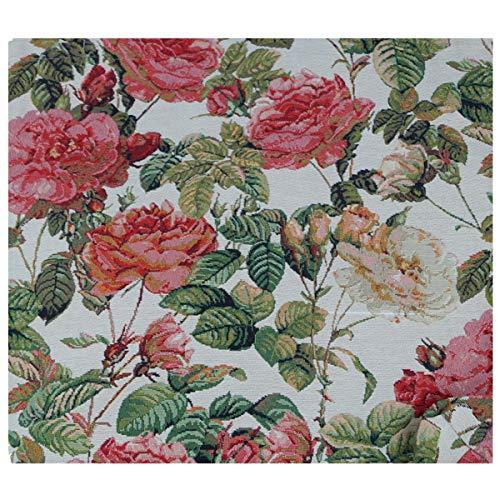 Beach Tasche 27x30x12 cm Blume Rose Einkaufstasche Shopper Gobelin Royaltex Signare Bowatex