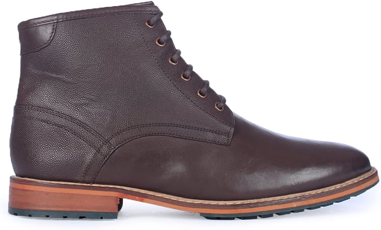 Lyle & Scott Mens Endrick Brown Leather Boots