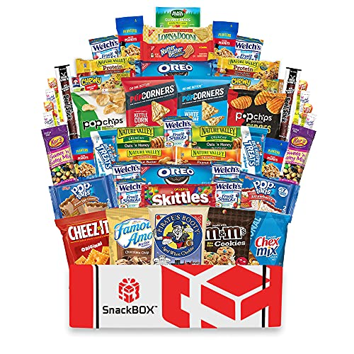 Care Package for College Students (50 Count) Great for Military, Office Gift, Finals or Back to School From Snack Box …