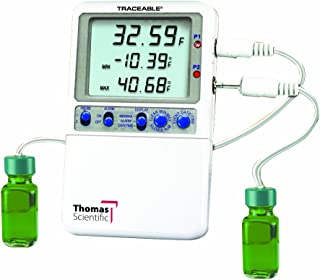 Thomas Traceable Hi-Accuracy Refrigerator Thermometer, with 2 Bottle Probe, -58 to 158 degree F
