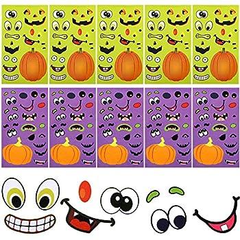 Halloween Stickers Sheets Pumpkin Decoration Stickers Lantern Face Stickers for Halloween Party Supplies  60 Pieces