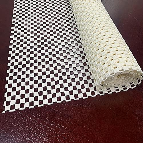 Base Antideslizante Para Alfombras - PVC Universal Alfombrilla Red Antideslizante - Resbalón Tope para Alfombra, -Recortable Antideslizante Capa Base (Beige, 150 x 40cm)