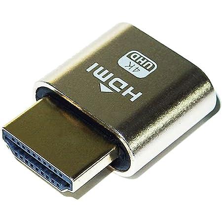 エスエスエーサービス サーバーやマイニングPC等のリモートマシンを4K表示 ダミーディスプレイ [ HDMI 4K UHD 仮想ディスプレイエミュレータ ] MS-004 ゴールド