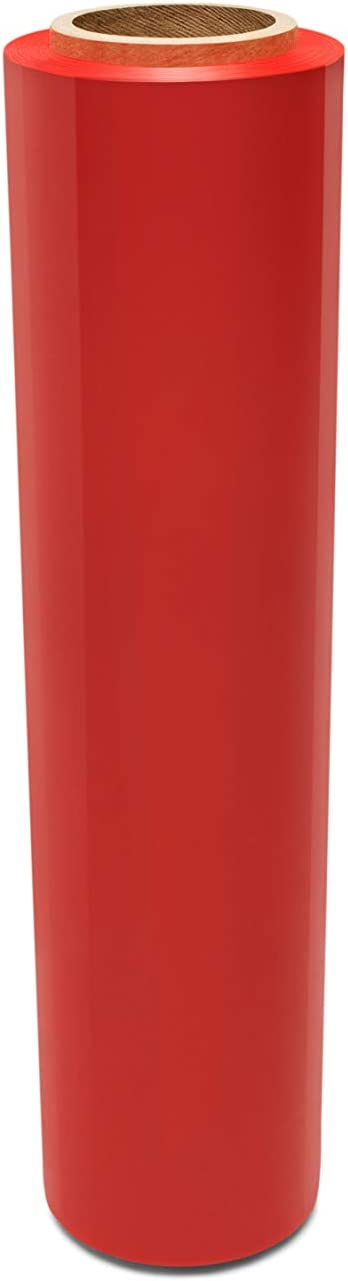 Red Color Hand Wrap Plastic Stretch Outlet ☆ Free Shipping Film 1500' x Gauge 18