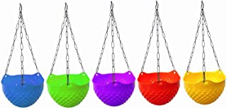 MB Traders Plastic Hanging Crystal Planter | Hanging Pots for Plants (Set of 5)
