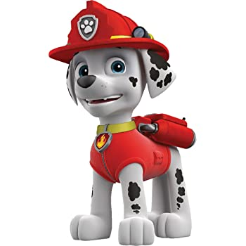 Paw Patrol Marshall Dog Wall Art Printed Vinyl Sticker Decal Childrens Bedroom Small A5 Amazon Co Uk Diy Tools