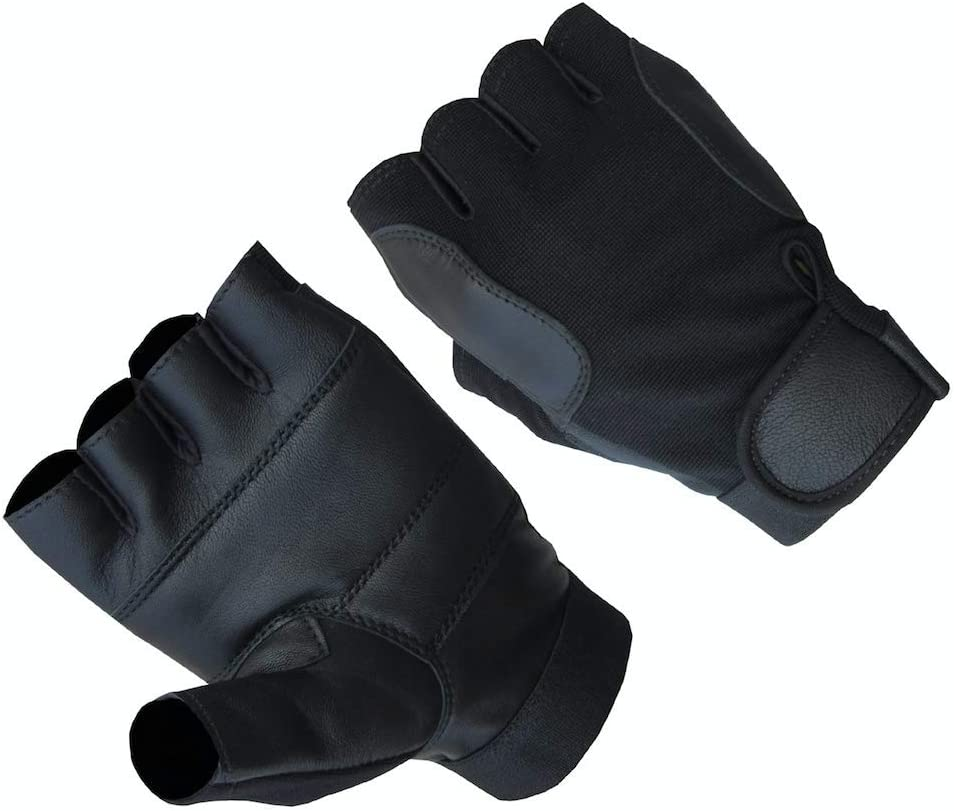 AH Apparel Chicago Mall Mens Premium Genuine Leather Lamb Fingerless Driving Industry No. 1