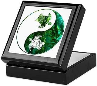 CafePress Yn Turtle-03 Keepsake Box, Finished Hardwood Jewelry Box, Velvet Lined Memento Box
