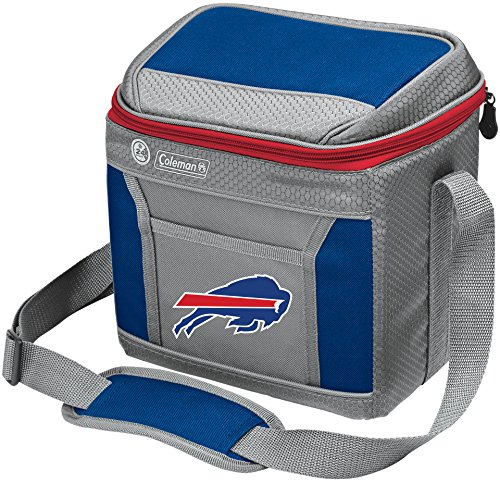 Coleman NFL Soft-Sided Insulated Cooler and Lunch Box Bag, 9-Can Capacity, Buffalo Bills
