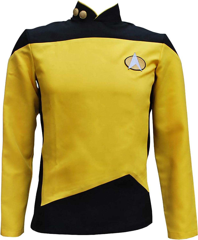 Embroidered Star Trek Command Uniform Costume Cosplay. Gold Star Trek Badge Costume