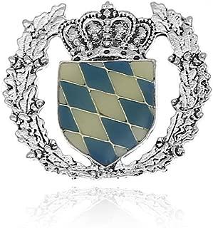 Anstecker Bayern Flagge Krone Wappen Byrisches Wappen Hutschmuck